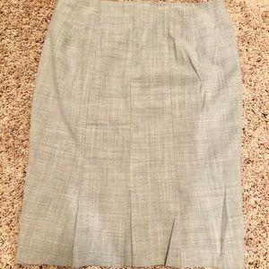 High waist express pencil skirt grey
